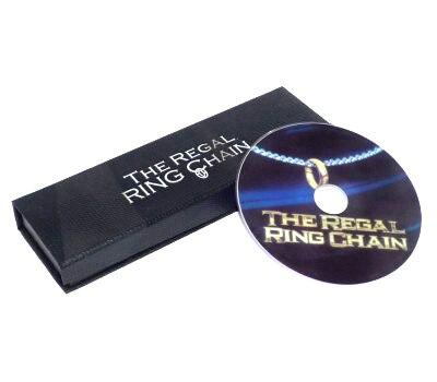 Le Regal Anneau Chaîne (DVD + Gimmick) Tours de magie Bague Empruntée Sur Chaîne de Cou Magie Close Up Illusion Accessoires Mentalisme Comédie