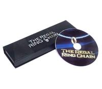 Te Regal Pierścień Łańcucha (DVD + Sztuczka) magiczne Sztuczki Pożyczył Pierścień Łańcuch Na Szyję Magie Bliska Illusion Rekwizyty Komedia Mentalizmu