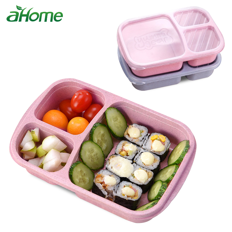 Separate <font><b>lunch</b></font> <font><b>box</b></font> Portable Bento <font><b>Box</b></font> Lunchbox Leakproof <font><b>Food</b></font> <font><b>Container</b></font> Microwave oven Dinnerware for Students image