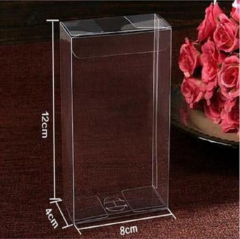 4X8X12CM Plastic Packing Box Birthday Wedding Gift Packaging Box Clear PVC Box Cosmetic Bottle Boxes
