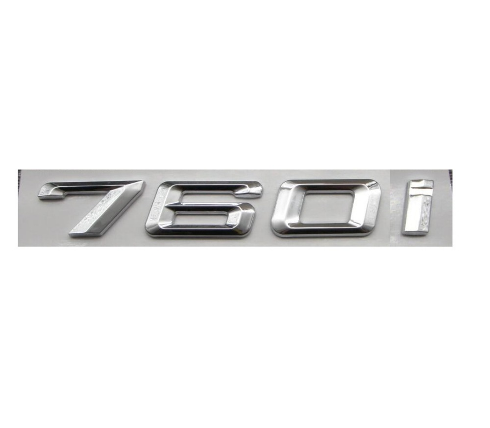 Chrome Shiny Silver Abs Number Letters Words Car Trunk Badge Emblem Letter Decal Sticker For Bmw