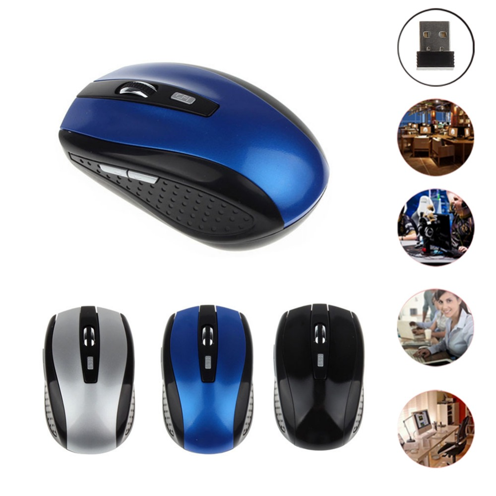 New Mini 2.4G Wireless Mouse 6D 2400DPI PC Wireless Mouse Receiver with USB Interface for Notebooks Desktop Computers laptops trust vivy wireless mini mouse red usb 17355