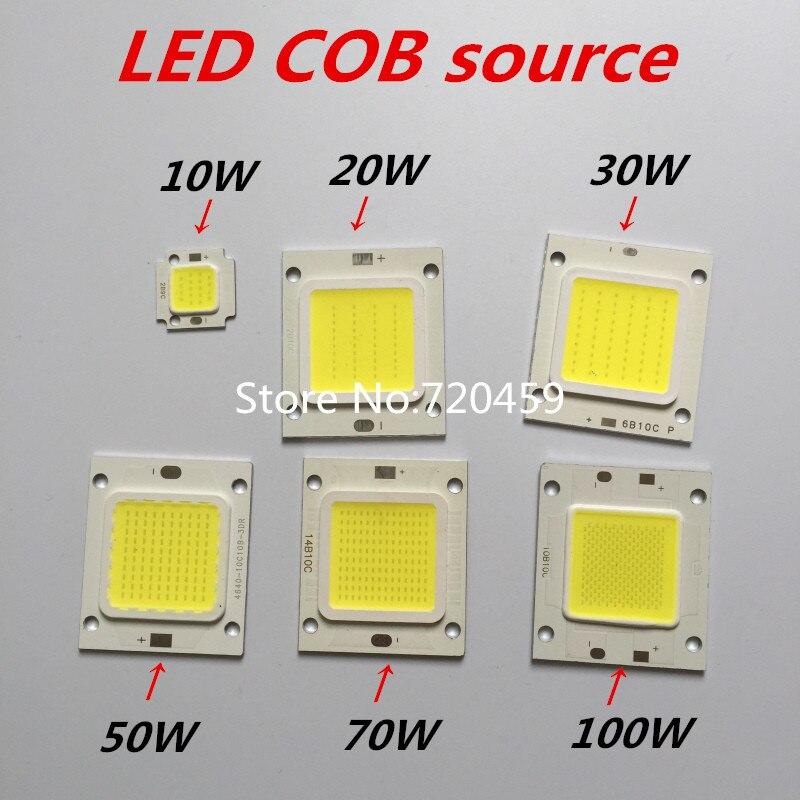 3pcs High Power COB LED Chip 10W light source The highlighted DIY lamps cob 100W 50w white warm white 30W led COB Chip