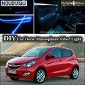 Нововису для Opel Karl внутренний окружающий свет тюнинг атмосфера волоконно-оптический ленточный свет внутри двери панели освещения
