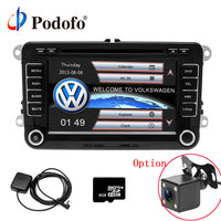 Podofo 2 Din 7 Inch Car DVD Player For Volkswagen With GPS Navigation IPOD FM RDS