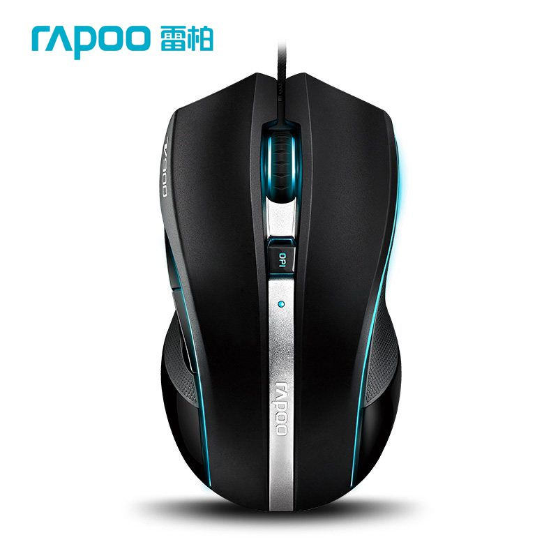 Rapoo v900 Professional Gaming Wired USB Laser Breathing Lights Computer Game 8200DPI 4-Mode Game Mice for DOTA LOL