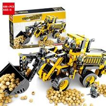 688Pcs City Excavator Wheel Loader Car Building Blocks Sets Technic Bricks DIY Playmobil Toys for Children