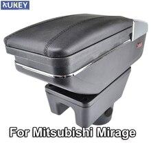 Accoudoir rotatif, boîte de rangement, accoudoir, décoration de voiture, style 2014, pour Mitsubishi Mirage attage 2018 – 2015