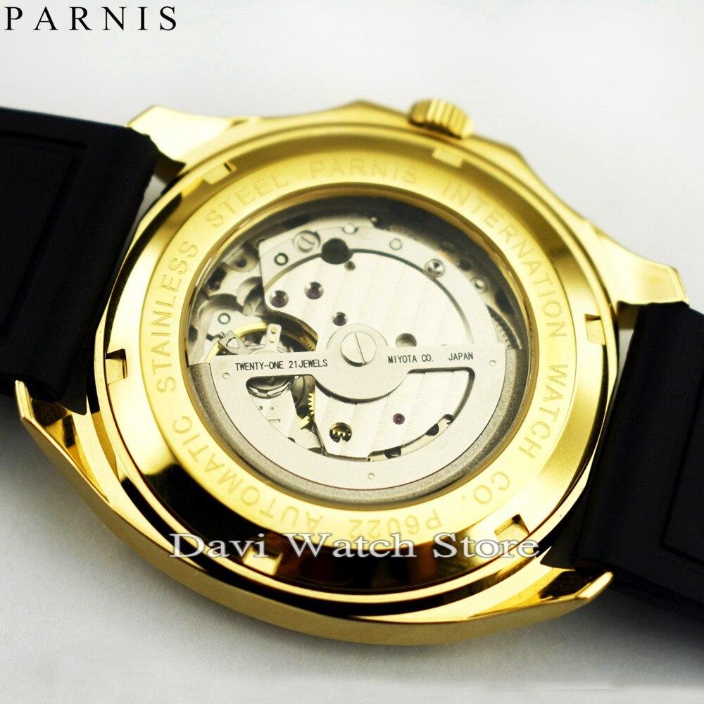Новинка 2017, хит продаж, часы для влюбленных, белый, черный, циферблат, золотой ремешок для часов, водонепроницаемые мужские часы, японский кв... - 5