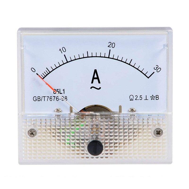 1PC 85L1 AC 1A 2A 3A 5A 15A10A 20A 30A 50A Ammeter Analog Ampere Current Test Meter