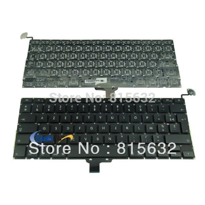 Brand New French FR Keyboard For Macbook Pro 13 Unibody A1278 MB466 MB990 MC700 5pcs lot netherlands dutch keyboard for macbook pro 13 a1278 netherlands dutch keyboard mc700 mc724 md101 md102