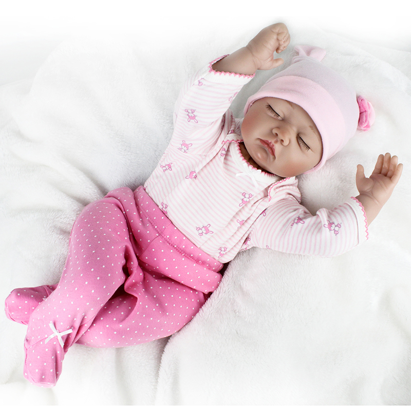 55CM Silicone Reborn Babies Dolls for Girls Toys Lifelike Newborn Baby Bonecas Kids Toys Birthday Gifts Juguetes Brinquedos 45 cm silicone reborn babies dolls for girls toys lifelike newborn baby bonecas with clothes reborn silicone babies for sale
