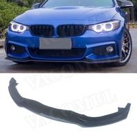 4 Series Carbon Fiber Front Bumper Lip Spoiler Splitters for BMW F32 F33 F36 2014 2015 2016 2017 Head Chin Guard