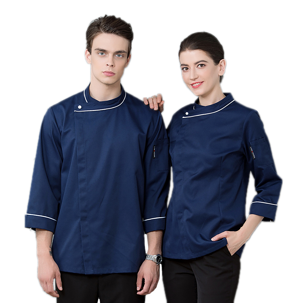Newly High Quality Chef's Jacket Restaurant Long-sleeved Uniforms Hotel Coat Bakery Unisex Jacket Kitchen Cooking Work Clothes