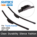 "Wiper bladess for Toyota Avensis (2003-2008) 24""+16"" fit standard J hook wiper arms only HY-002"