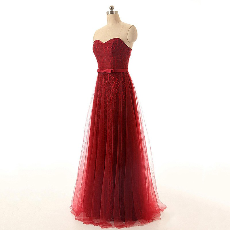 red-strapless-tulle-vintage-long-evening-dress-1