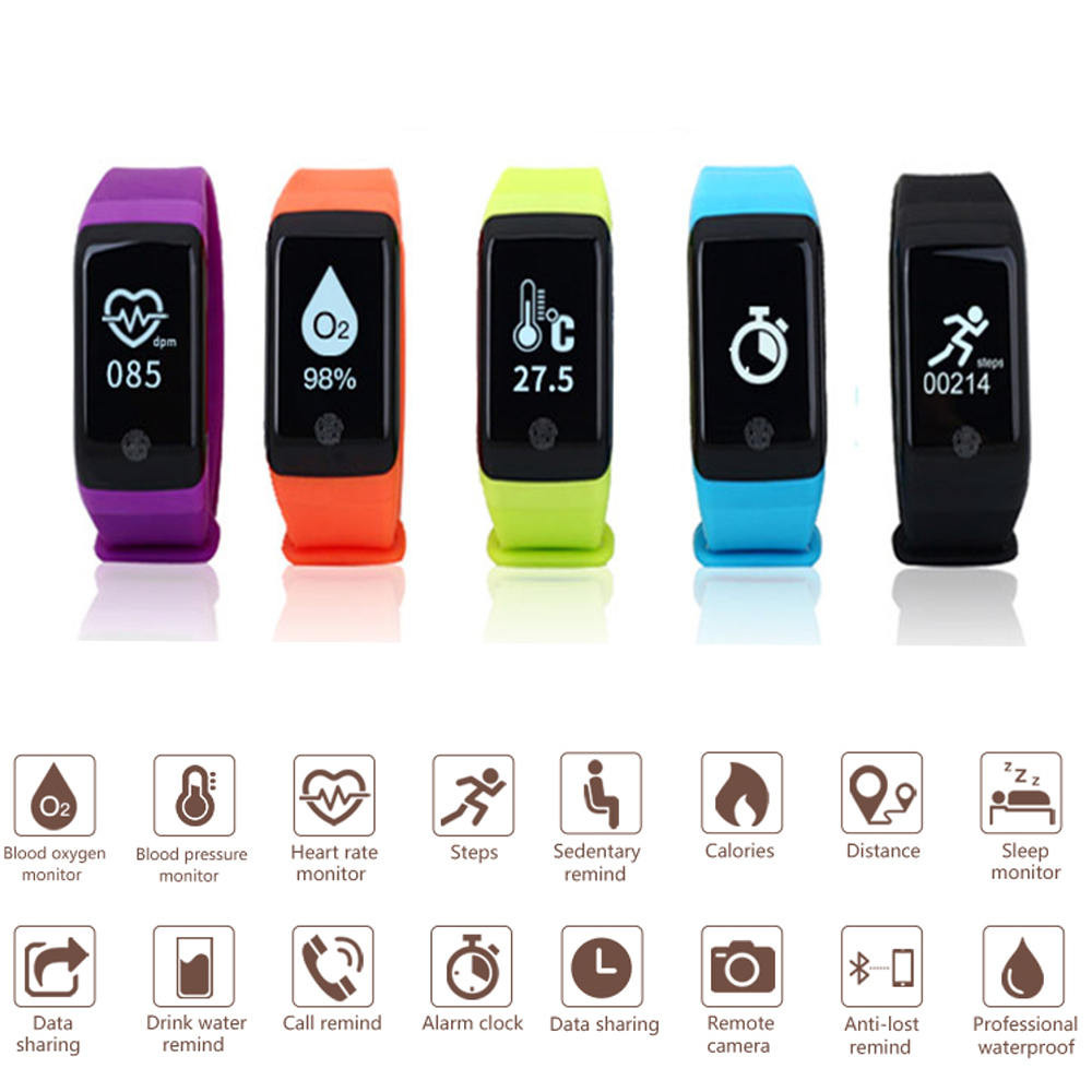 IP98 Waterproof Fitness Tracker Pedometer Blood Oxygen Heart Rate Monitor Running Sport Step Tracker Walking Distance Counter