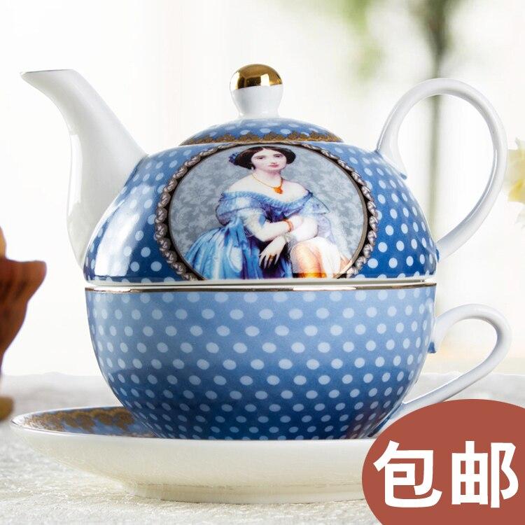 Королевский дворец в Западной Европе аристократический высококачественный креативный композитный горшок для чая кофейника