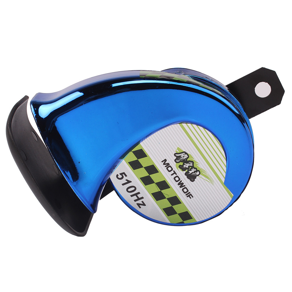Colorful 510HZ Euro Sports Horn Motorcycle Scooter Go-kart Dirt bike Snail Loud Horn PC Loudspeaker Audio Trumpet DC12V 110dB