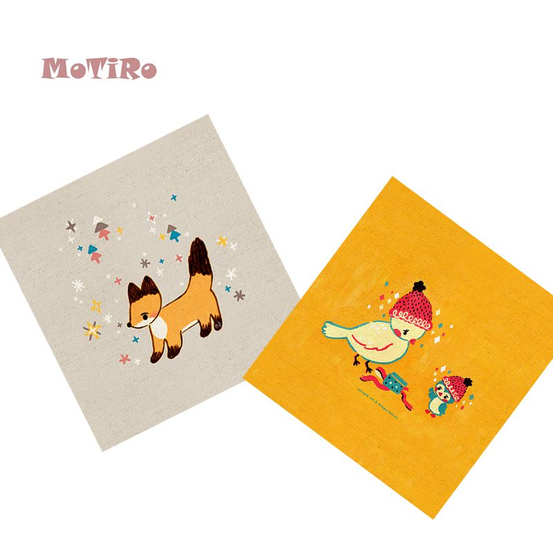Arts,crafts & Sewing Enthusiastic Motiro,2pcs/lot,cotton Linen Fabric,animals Pattern Plain Hand Dyed Cloth Of Table Mat/mouse Pad/apron Pocket/pillow Decoration