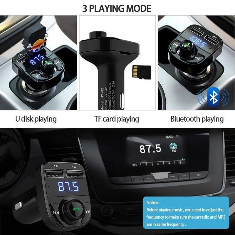 Беспроводной bluetooth-приемник радио адаптер fm-передатчик автомобильный fm-передатчик AUX Стерео Обнаружение напряжения громкой связи Портативный