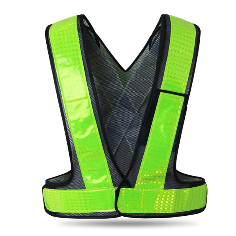 SPARDWEAR high visibility safety reflective running vest construction worker waistcoat with reflective crystal lattice construction worker reflective safety vest with pockets with reflective tape