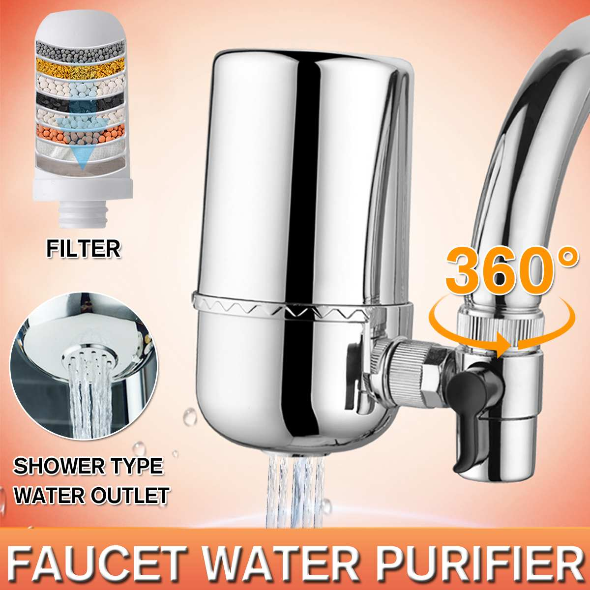 Tap Water Purifier Kitchen Faucet Washable Ceramic Percolator Mini Water Filter Filtro Rust Bacteria Removal Replacement Filter