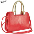 6 Colour 2016 New Arrival Alligator Pattern Women's Handbag Fashion Tote Bag Bolsas QQ1641