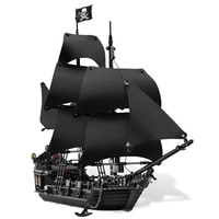 Pirates of the Caribbean Black Pearl Queen Annes Revenge flying Dutchman Silent Mary LegoING Model Building ship block toy