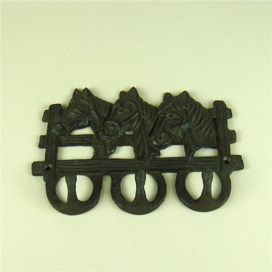 Vintage Cast Iron Horse Stable Key Hook Artistic Craftworks ...