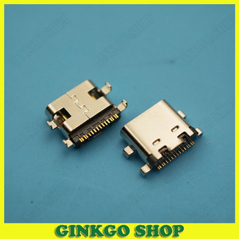 200pcs Type C  90degrees USB 3.1 Socket Female Jack 1.6mm 4Pin USB Jack Connector