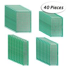 40 adet Çift taraflı Prototip DIY PCB kartı Evrensel Baskılı devre Kiti Elektronik 2*8 cm/3 * 7 cm/4*6 cm/5*7 cm
