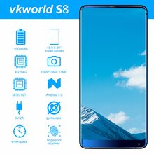 "Vkworld S8 5.99"" FHD+ 18:9 in-cell Mobile Phone Android 7.0 MTK6750T Octa Core 4GB RAM 64GB ROM 16MP Dual camera 4G Smartphone(China)"