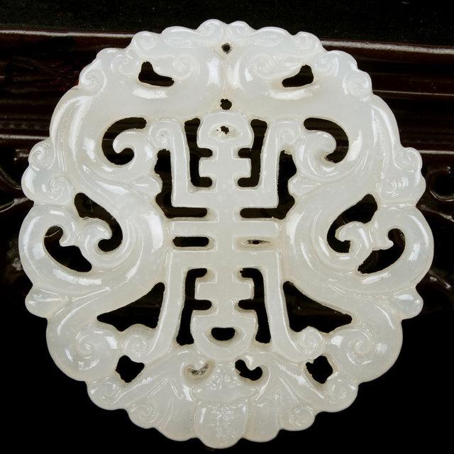 KYSZDL סיני ביד מגולף טבעית יפה תליון אבן אריכות ימים (פו שו)