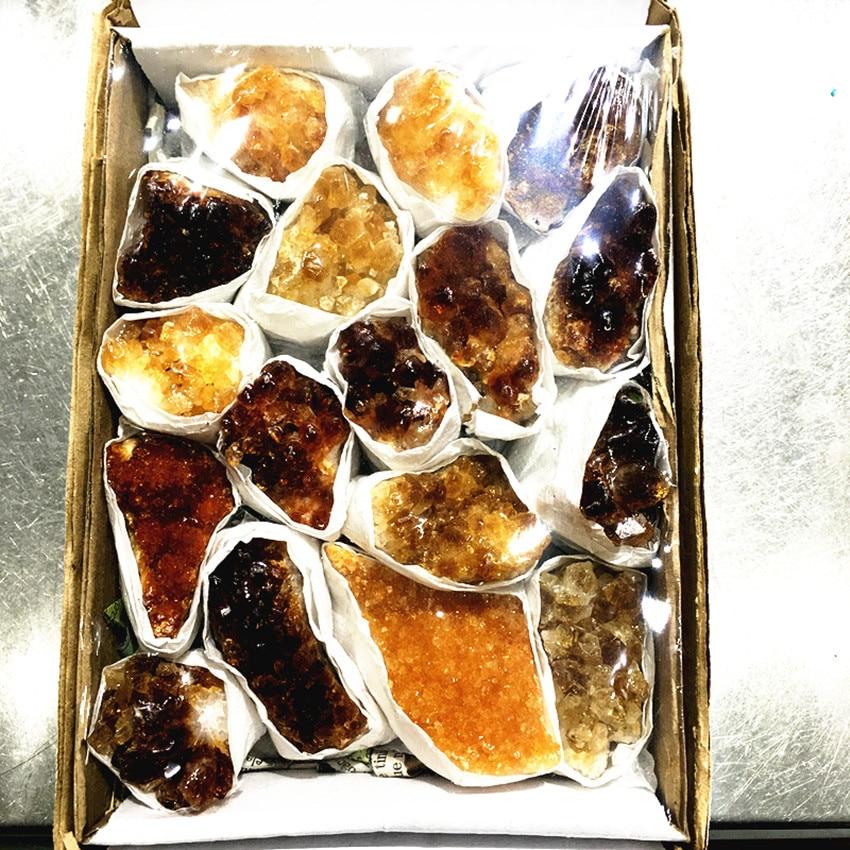 1pcs Raw Natural Citrine Quartz Crystal Gemstone Cluster Meditation Healing Chakra Crystal Specimenhome Decoration Madagascar