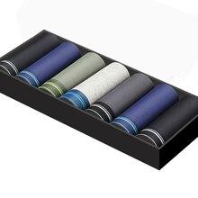 7 sztuk/partia bokserki męskie bawełniane męskie krótkie oddychające stałe elastyczne spodenki bokserki kolorowe kalesony vetement homme