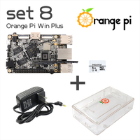 Orange Pi Win Plus SET 8: Orange Pi Win Plus+ Transparent ABS Case+ Power Supply+ 8 GB Class 10 Micro SD Card Beyond Raspberry