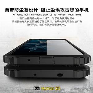 Image 5 - Huawei 명예 20 케이스 shockproof 부드러운 실리콘 갑옷 고무 하드 pc 전화 케이스 huawei 명예 20 다시 커버 명예 20