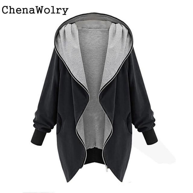 Casual Winter Warm Long Sleeve Women's Fashion Zipper Hoodie Kapuzen Jacket Coat Windbreaker Free Shipping Dec 1