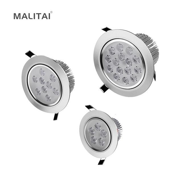 85V-265V 3W 5W 7W 9W 12W 15W 18W LED Spotlight Bulb lamp Recessed Downlight Ceiling light + Driver For Kitchen Hallway lighting