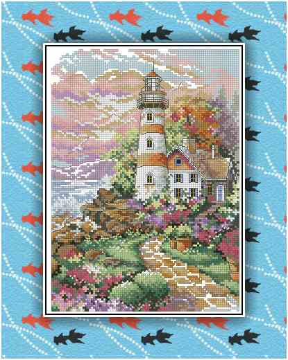 Gold Collection Lovely Counted Cross Stitch Kit Beacon At Daybreak Scenic Lighthouse Light House Dim 06883 6883