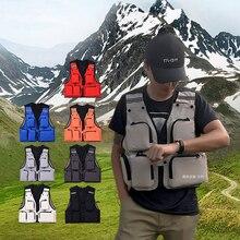 Summer Fishing Vest Jacket with Pocket Life Vest for Fishing Clothes Sports Outdoor gilet de sauvetage peche chaleco vida