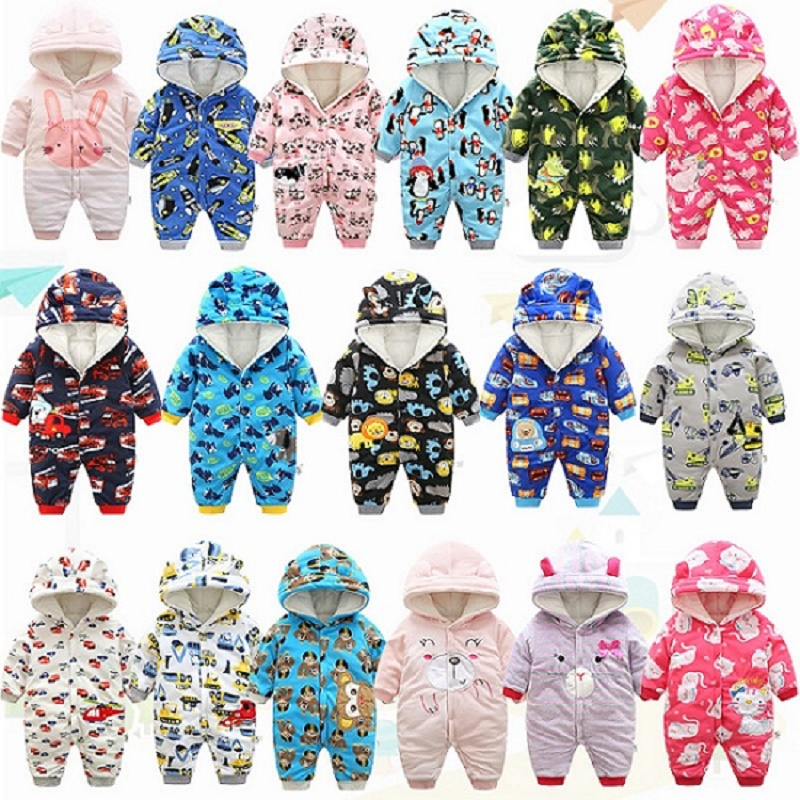 2018 autumn Winter Warm baby girl boy Snowsuit down cotton baby Rompers hoodies Newborn overalls clothes kids children jumpsuit baby girl clothes baby winter suit spring and autumn warm baby boy clothes newborn fashion cotton clothes two sets of underwear