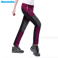4XL Women Winter Inner Fleece Softshell Hiking Pants Outdoor Sports Thermal Brand Camping Trekking Skiing Female Trousers MB022