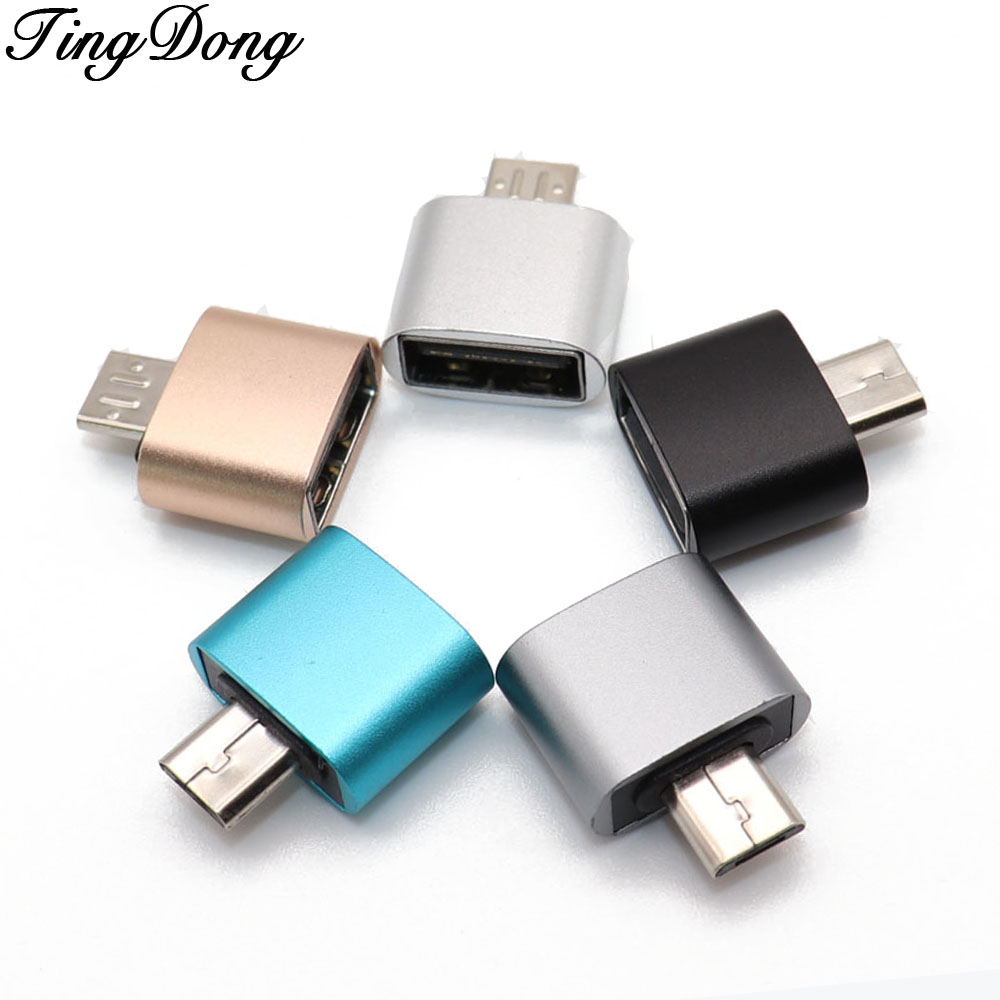 TingDong 1pcs Micro USB To USB OTG Adapter 2.0 Converter For Tablet Pc To Flash Mouse Keyboard