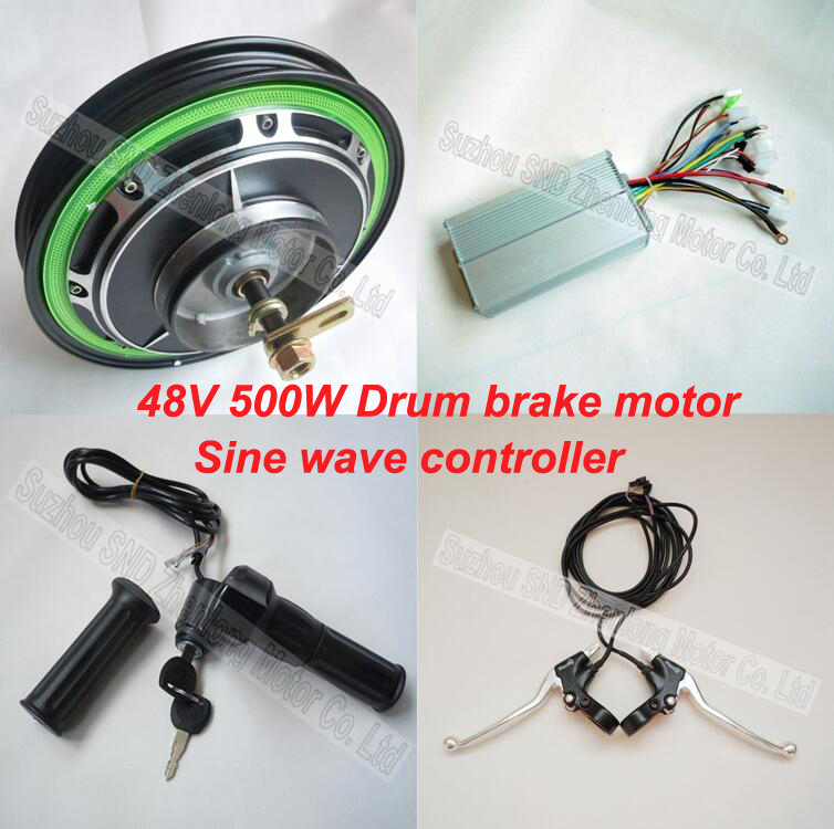 14 48v 500w brushless hub motor wheel set powerful for Most powerful electric motor