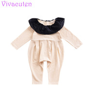 Baby Rompers Infant Girl Newborn Baby Clothes Solid Color Cotton Long Sleeve Rompers Suits Coverall