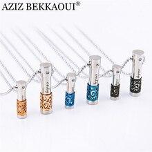 AZIZ BEKKAOUI 316L Stainless Steel Perfume Bottle Lover Necklaces & Pendants for Women Men Perfume Container Pendant Necklaces