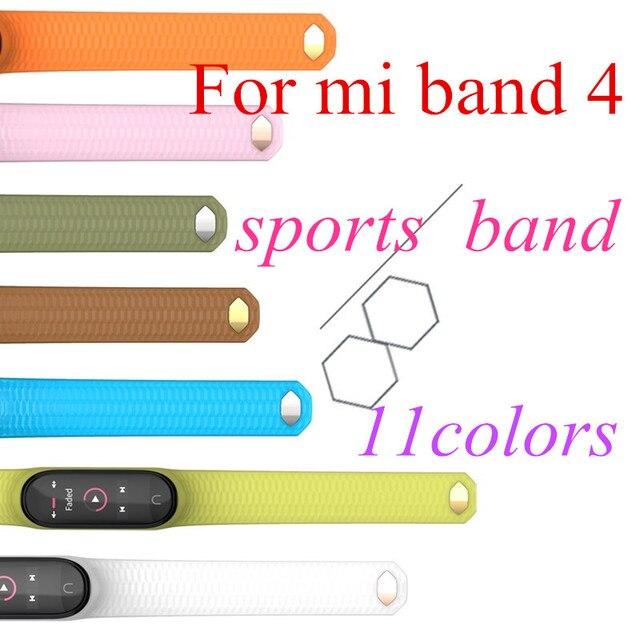 Mode mi bande 4 sangle Silicone Bracelet de poignet pour Xiao mi bande 3 sangle accessoires mi bande 3 bracelets intelligents mi bande 4 4