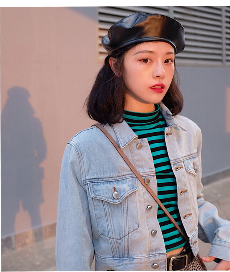beret women winter french red black wool beret hat women french hat female beret women beret hats women leather beret women (4)